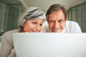 Couple Completing Online Hearing Test